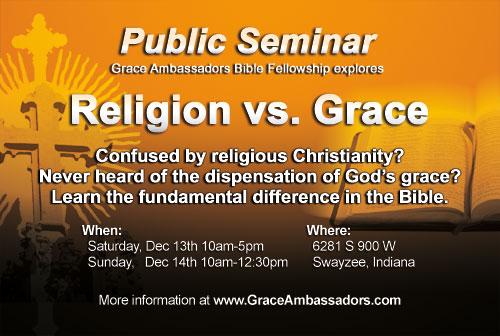 Seminar 2014: Religion vs. Grace